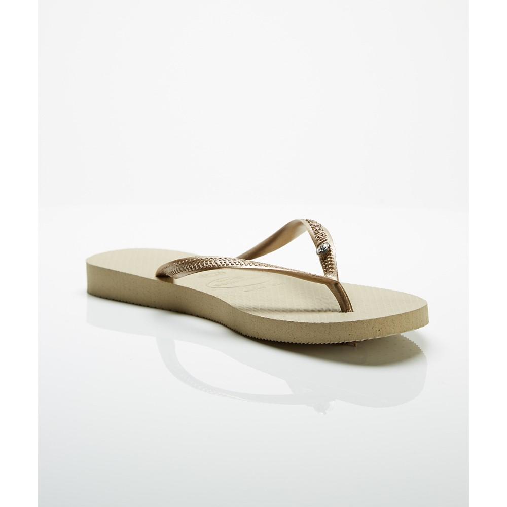 ハワイアナス レディース シューズ・靴 ビーチサンダル【Havaianas Slim Crystal Glamour Flip Flops】Sand