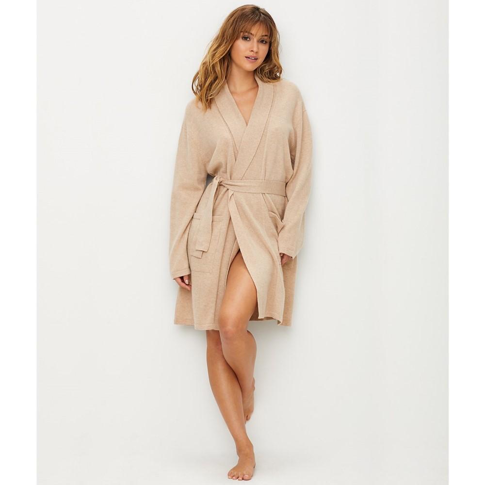 アロッタ レディース インナー・下着 ガウン・バスローブ【Arlotta Short Cashmere Robe】Natural Beige