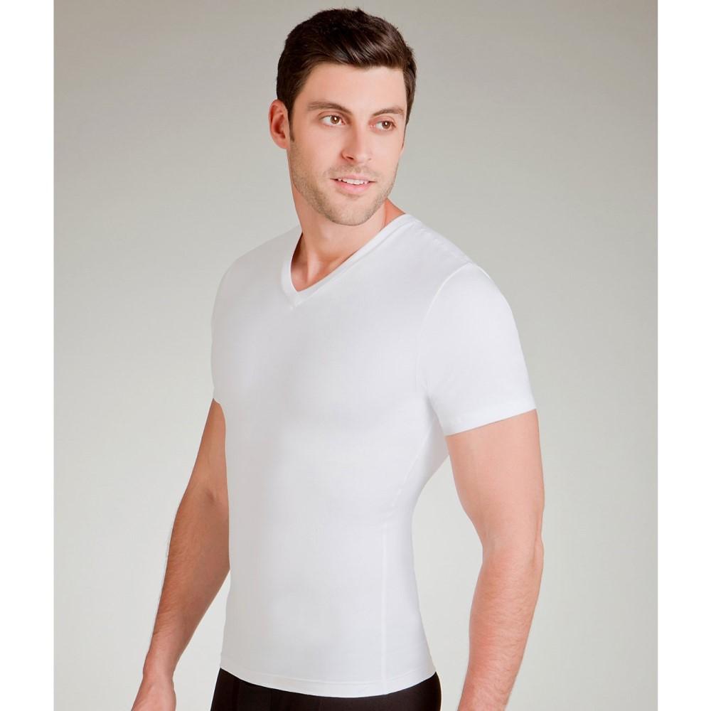 スパンクス メンズ トップス Tシャツ【SPANX Cotton Compression V-Neck T-Shirt】White