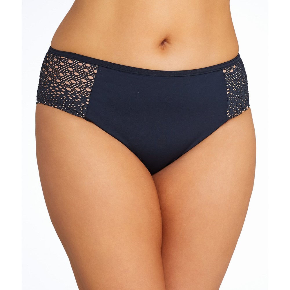 エロミ レディース 水着・ビーチウェア ボトムのみ【Elomi Plus Size Indie Mid-Rise Bikini Bottom】Black