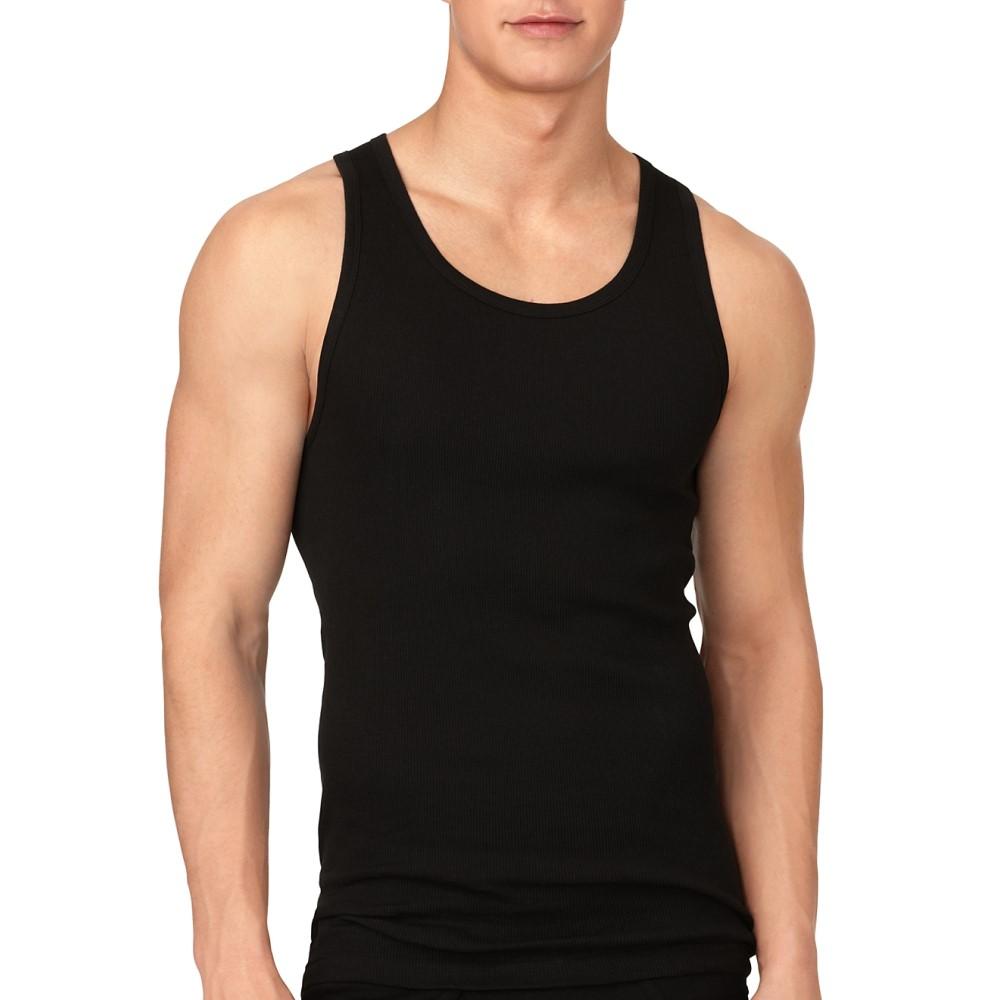 カルバンクライン メンズ トップス タンクトップ【Calvin Klein Cotton Tank 3-Pack】Black