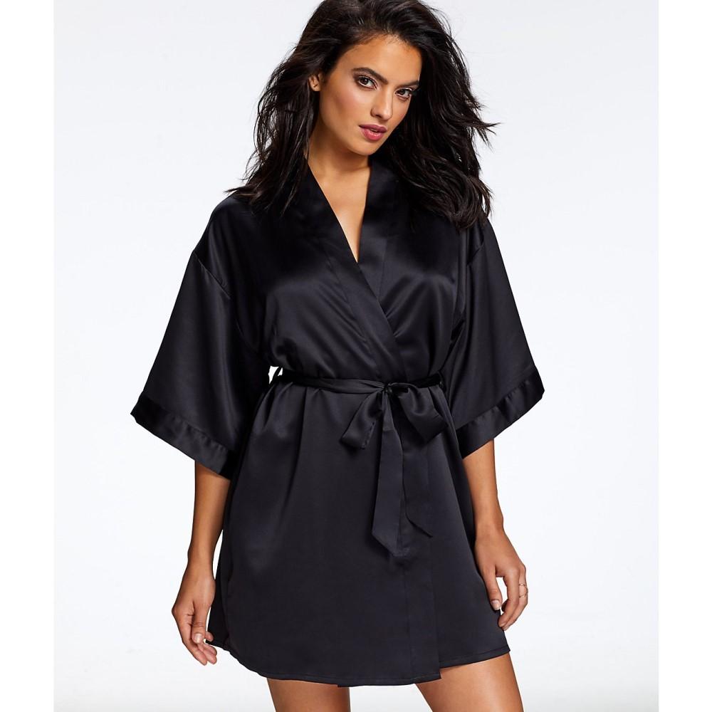 ジザベル レディース インナー・下着 ガウン・バスローブ【Jezebel Kimono Satin Robe】Black