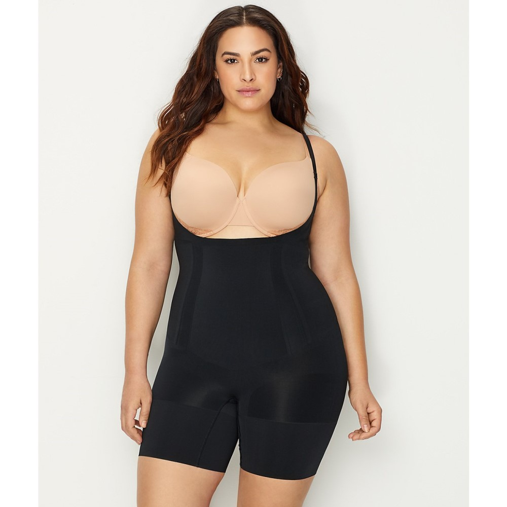 スパンクス レディース インナー・下着 ボディースーツ【SPANX Plus Size OnCore Firm Control Open-Bust Bodysuit】Very Black