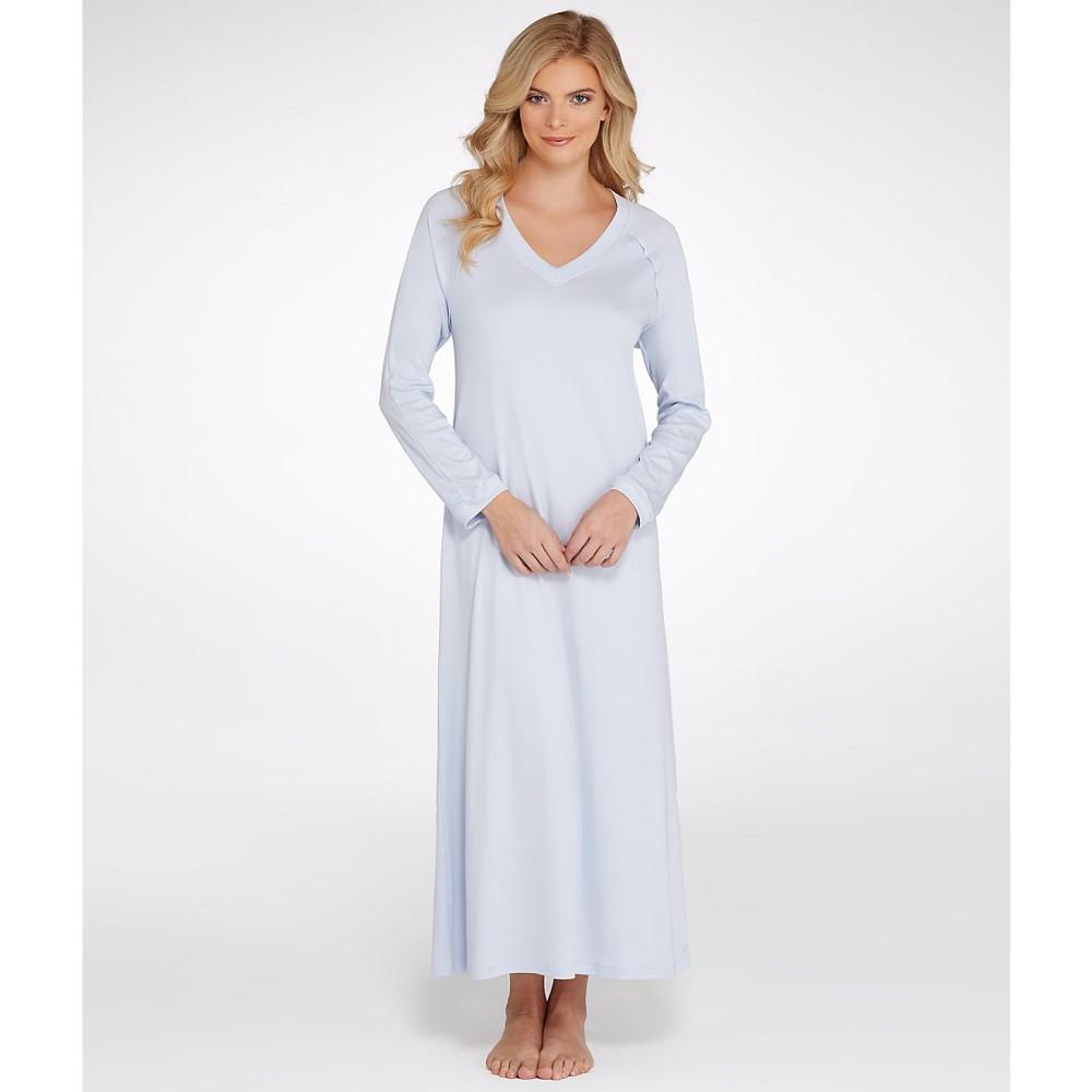 ハンロ レディース インナー・下着 パジャマ・トップのみ【Hanro Pure Essence Knit Gown】Blue Glow