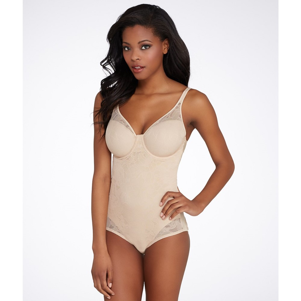 バリ レディース インナー・下着 ボディースーツ【Bali Ultra Light Firm Control Bodysuit】Nude