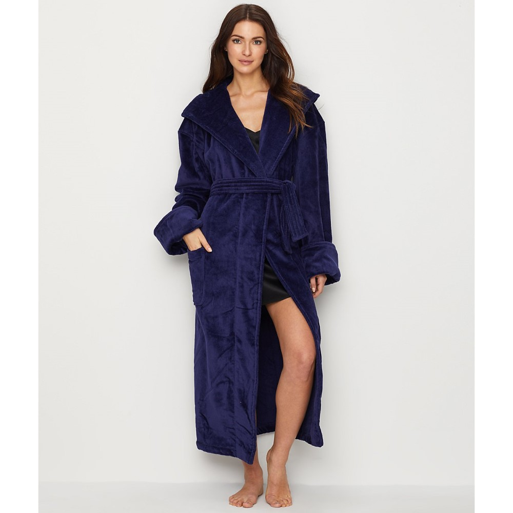 モナーク サイプレス レディース インナー・下着 ガウン・バスローブ【Monarch Cypress Cotton Terry-Lined Hooded Robe】Navy
