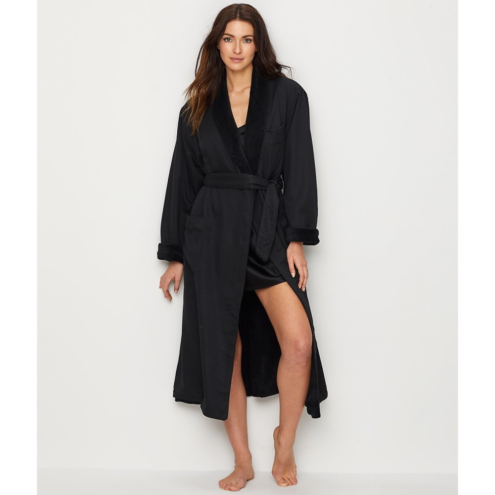 モナーク サイプレス レディース インナー・下着 ガウン・バスローブ【Monarch Cypress Microfiber Plush-Lined Robe】Black