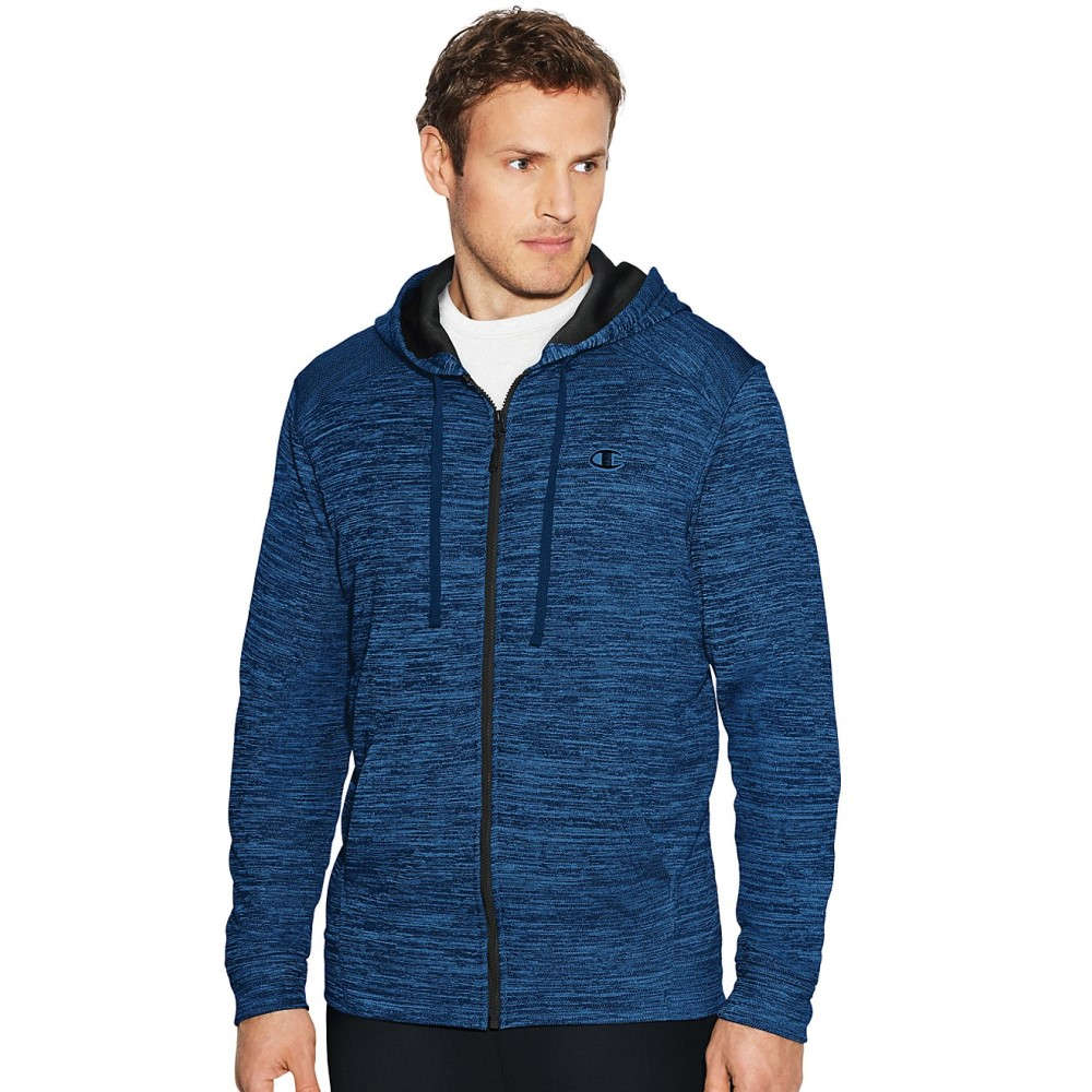 チャンピオン メンズ トップス フリース【Champion Premium Full Zip Tech Fleece】Winter River Blue