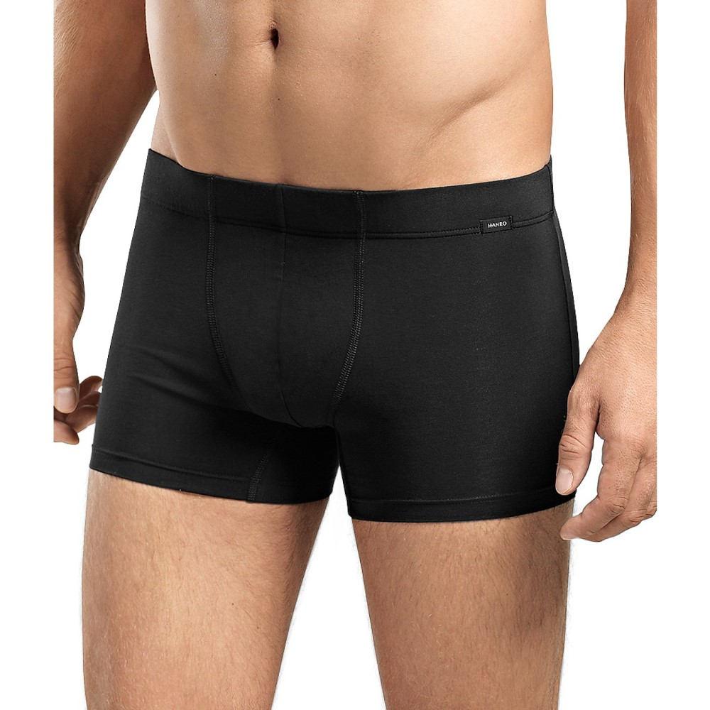 ハンロ メンズ インナー・下着 ボクサーパンツ【Hanro Cotton Essentials Boxer Brief 2-Pack】Black