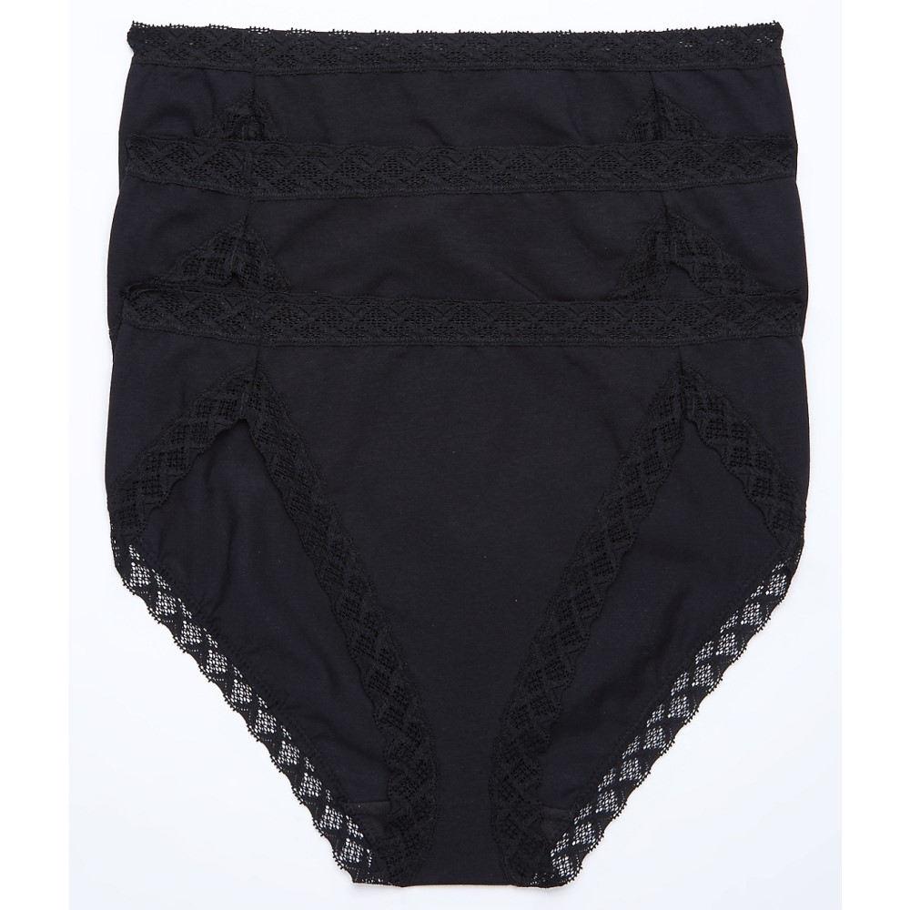 ナトリ レディース インナー・下着 ショーツのみ【Natori Bliss French Cut Bikini 3-Pack】Black