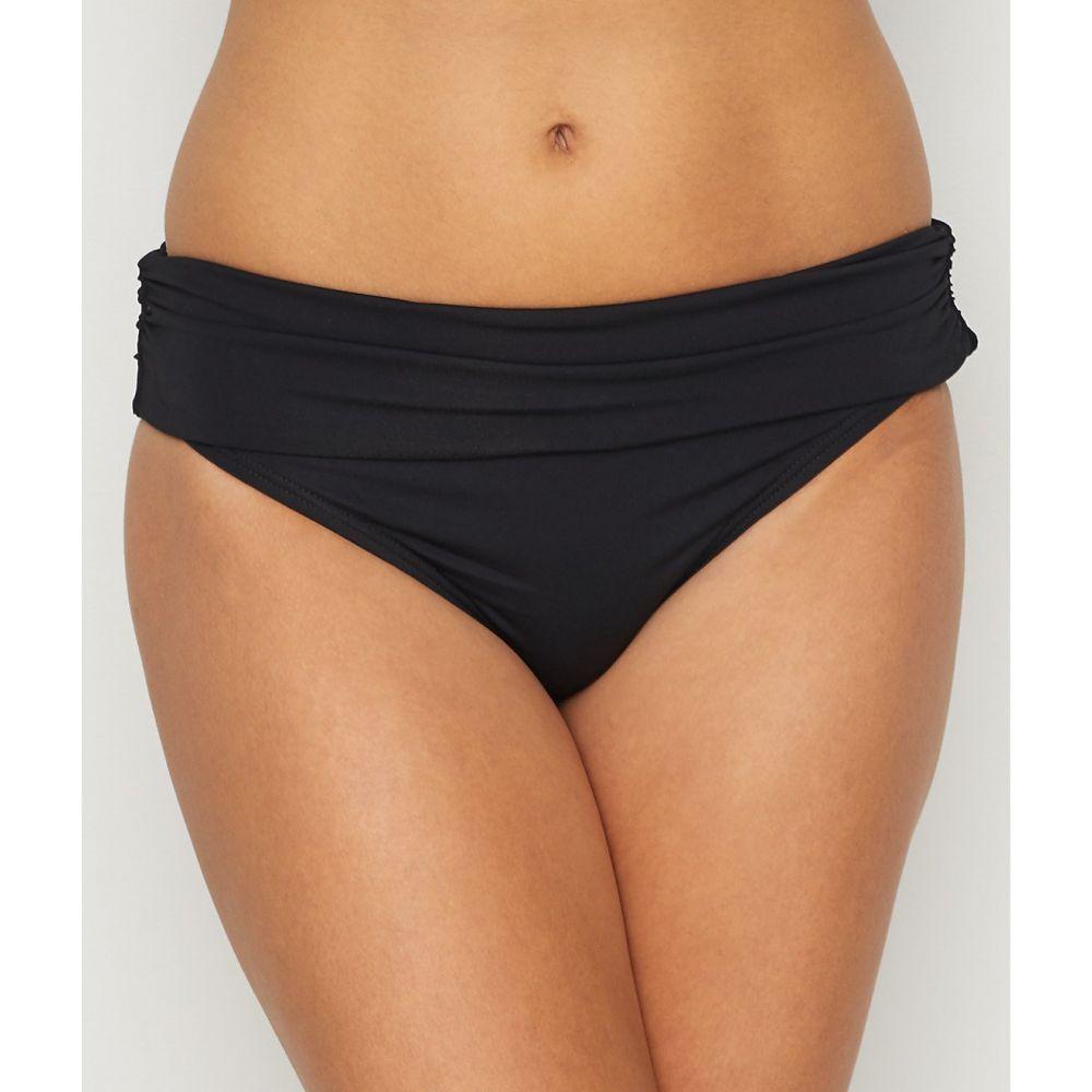 ココリーフ Coco Reef レディース 水着・ビーチウェア ボトムのみ【Classic Solid Fold-Over Bikini Bottom】Black