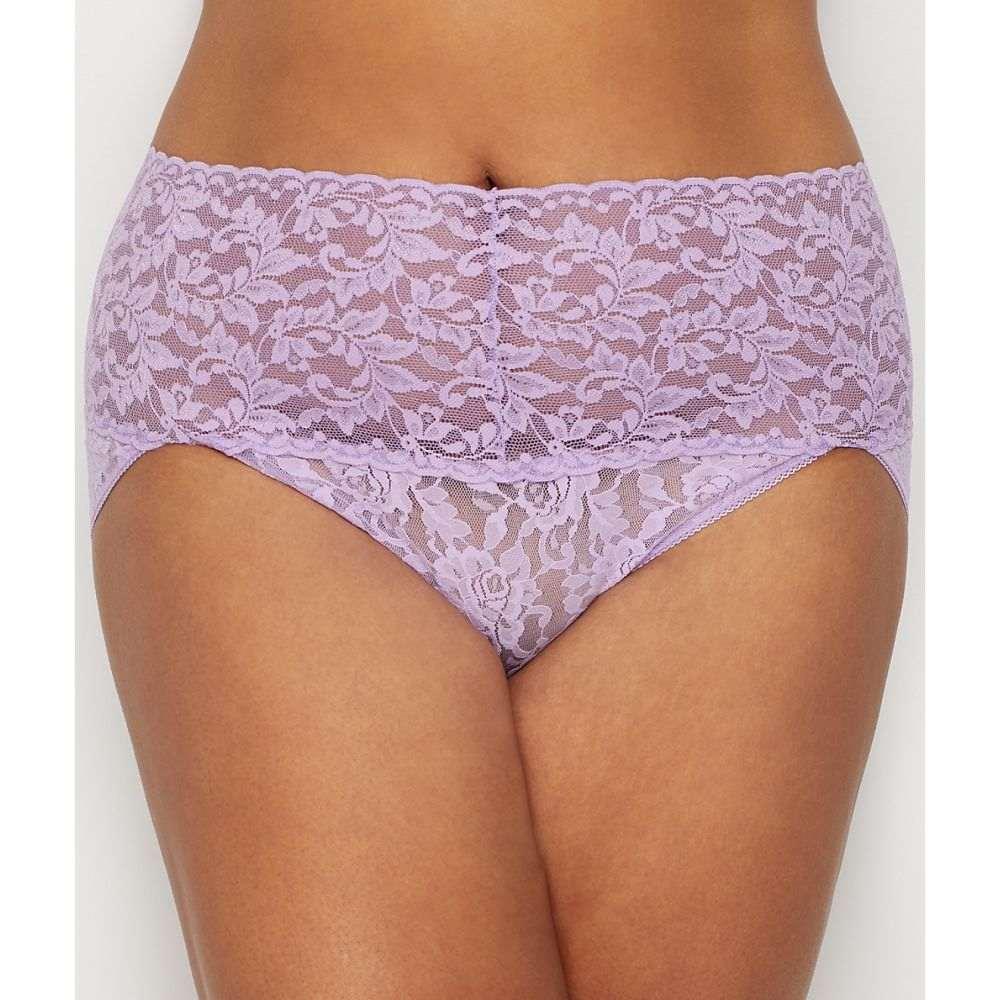 ハンキーパンキー Hanky Panky レディース インナー・下着 ショーツのみ【Plus Size Signature Lace Retro V-kini】Lavender Satchet