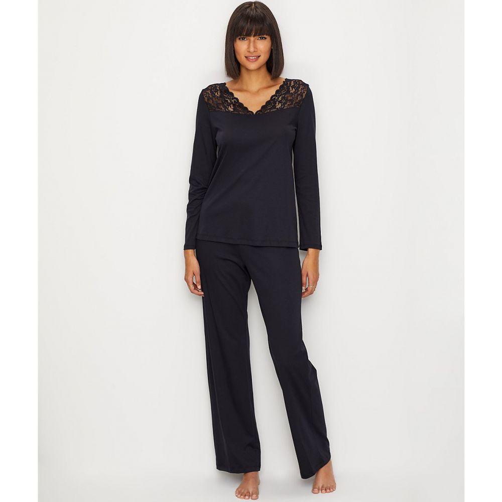 ハンロ Hanro レディース インナー・下着 パジャマ・上下セット【Moments Knit Pajama Set】Black