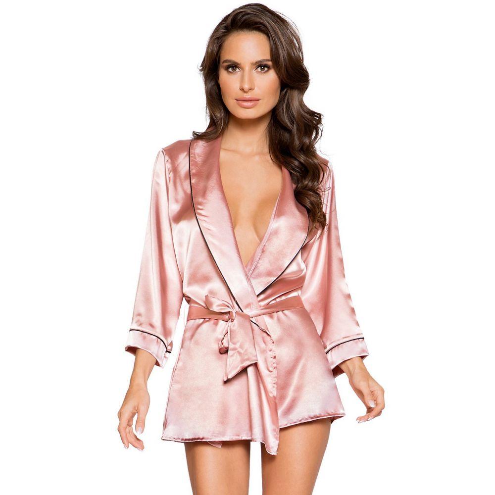 ローマ Roma レディース インナー・下着 ガウン・バスローブ【Elegant Satin Robe】Pink