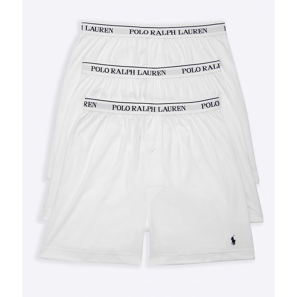 ラルフ ローレン Polo Ralph Lauren メンズ インナー・下着 ボクサーパンツ【Classic Fit Cotton Boxers 3-Pack】White