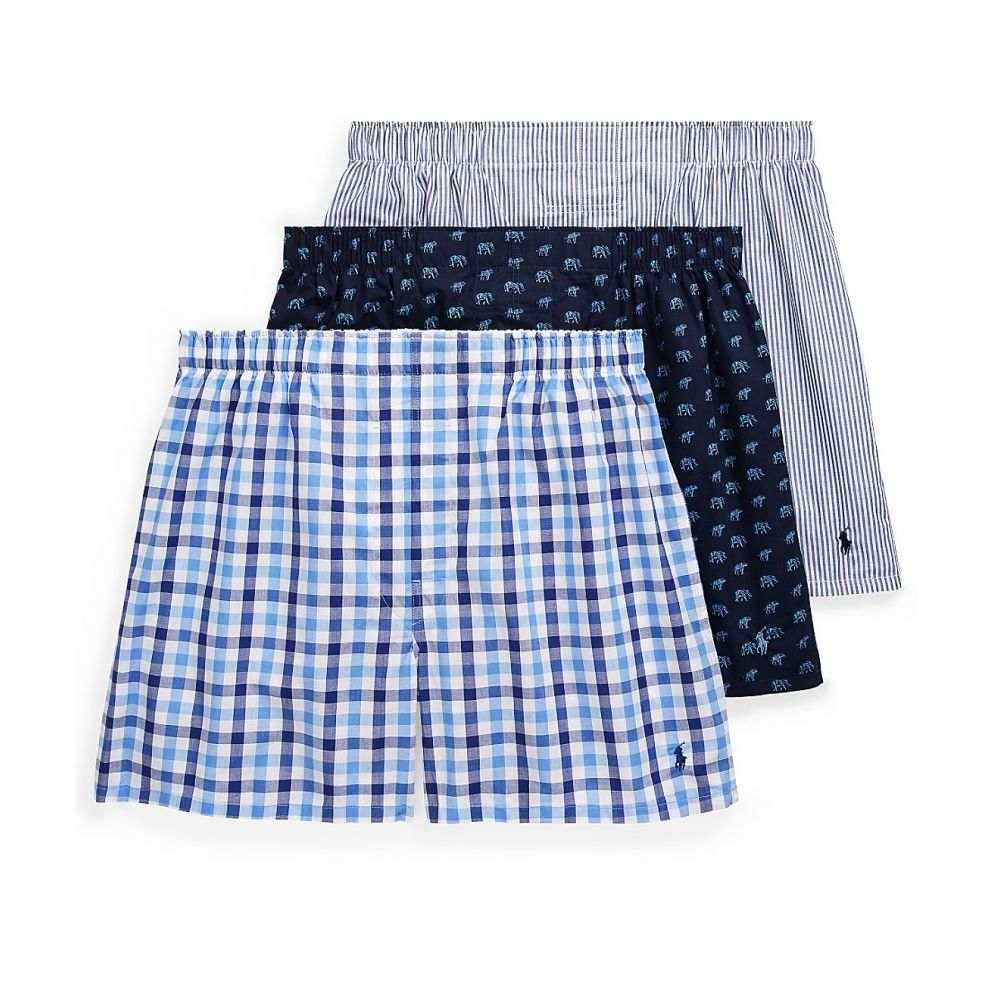 ラルフ ローレン Polo Ralph Lauren メンズ インナー・下着 ボクサーパンツ【Classic Fit Woven Cotton Boxers 3-Pack】Plaid/Animal/Stripe