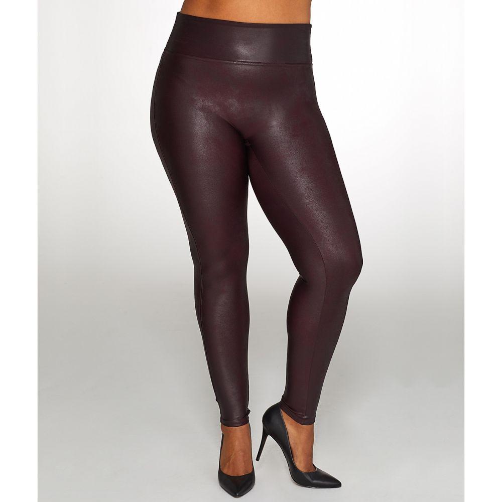 スパンクス SPANX レディース ボトムス・パンツ 【Plus Size Ready-to-Wow Faux Leather Leggings】Wine