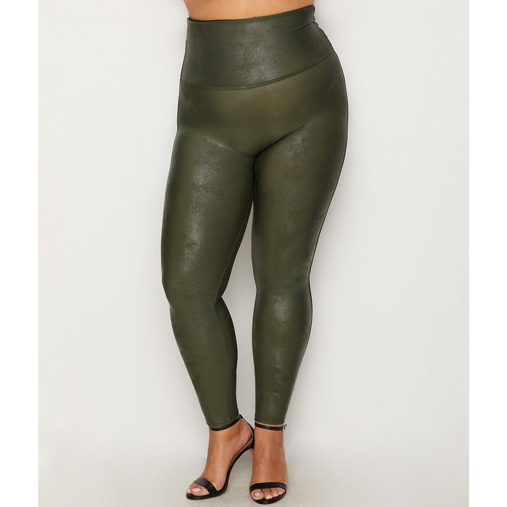 スパンクス SPANX レディース ボトムス・パンツ 【Plus Size Ready-to-Wow Faux Leather Leggings】Rich Olive