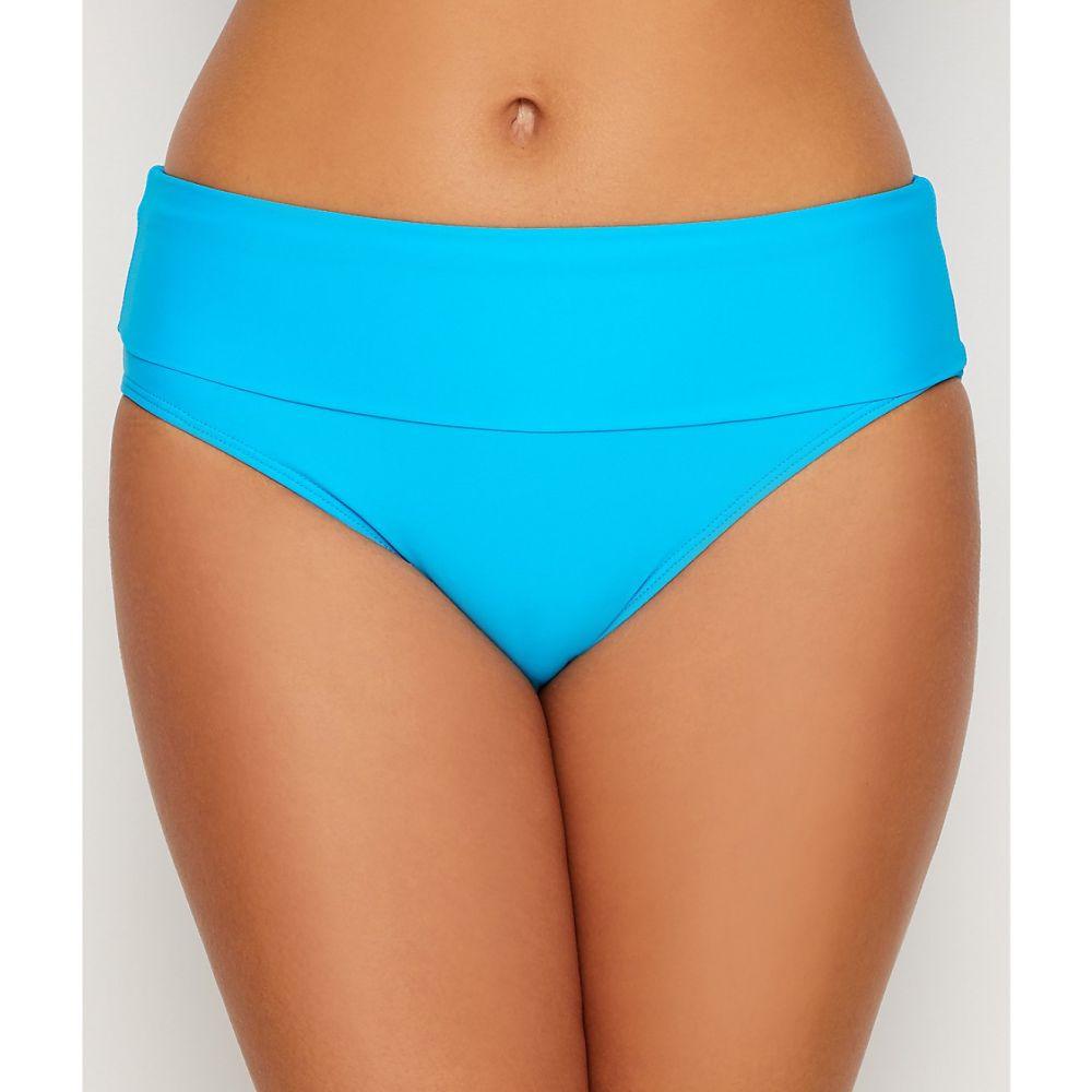 サンセット Sunsets レディース ボトムのみ 水着・ビーチウェア【Poolside Blue Fold-Over High-Waist Bikini Bottom】Poolside Blue