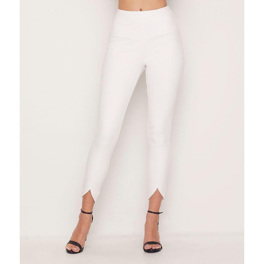 リサ LyssA レディース スパッツ・レギンス インナー・下着【Medium Control Lynette Scallop Denim Leggings】White