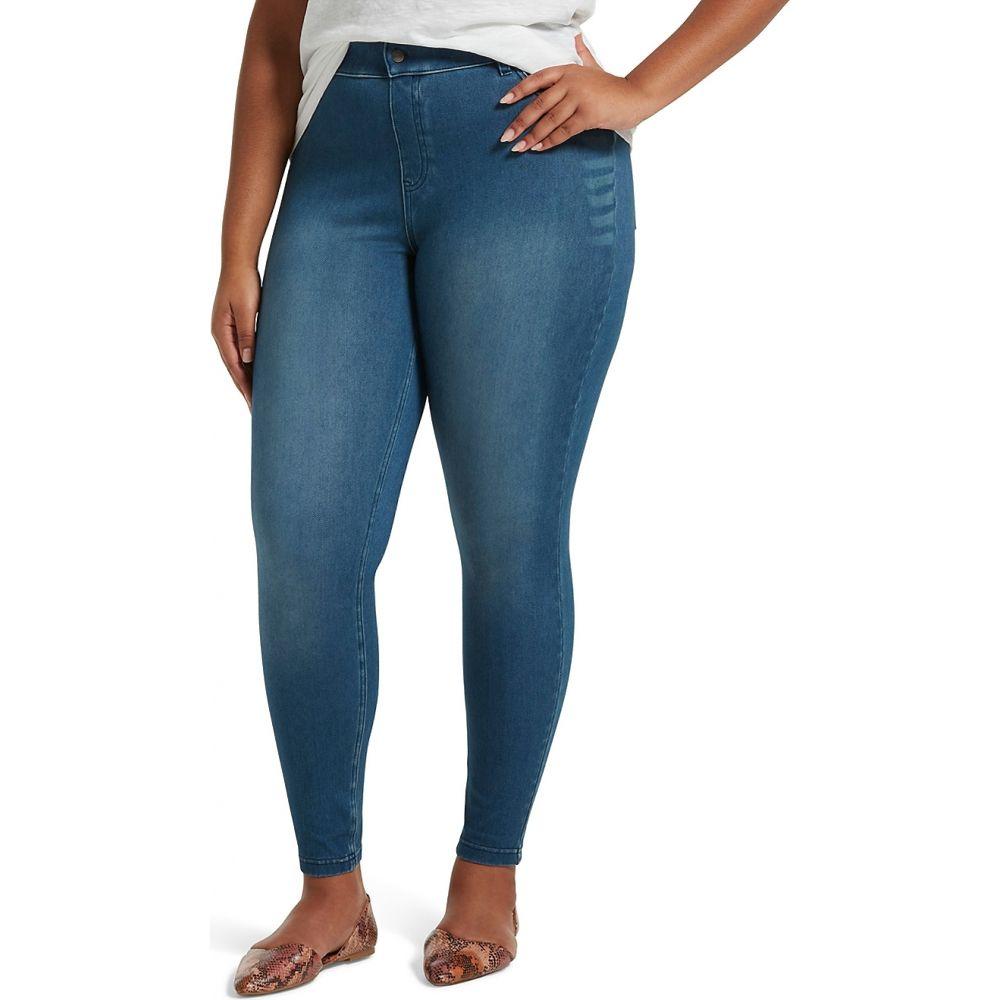 フエ HUE レディース スパッツ・レギンス 大きいサイズ インナー・下着【Plus Size High-Waist Denim Leggings】Windsor Blue