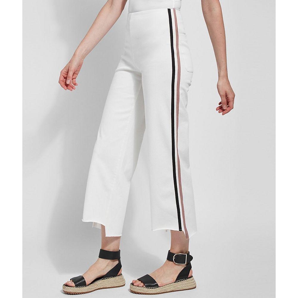 リサ LyssA レディース ジーンズ・デニム ワイドパンツ ボトムス・パンツ【Medium Control Emilia Wide Leg Cropped Denim Pants】Off White
