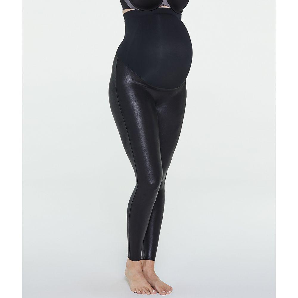 スパンクス SPANX レディース ボトムス・パンツ レザーレギンス【Faux Leather Mama Leggings】Very Black