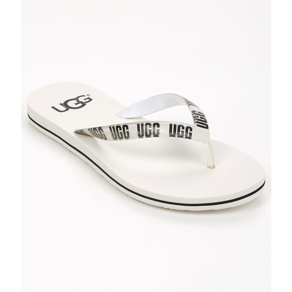 アグ UGG レディース ビーチサンダル シューズ・靴【Simi Graphic Flip Flops】White