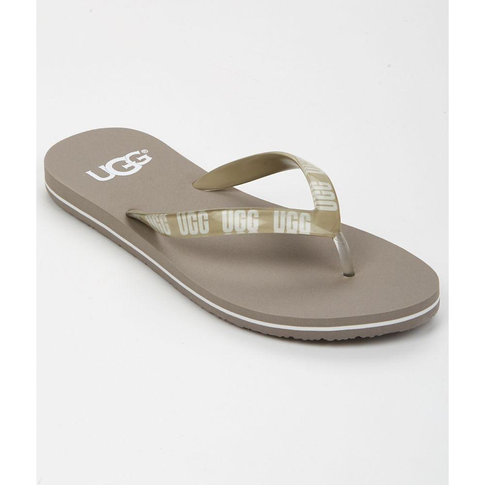 アグ UGG レディース ビーチサンダル シューズ・靴【Simi Graphic Flip Flops】Oyster