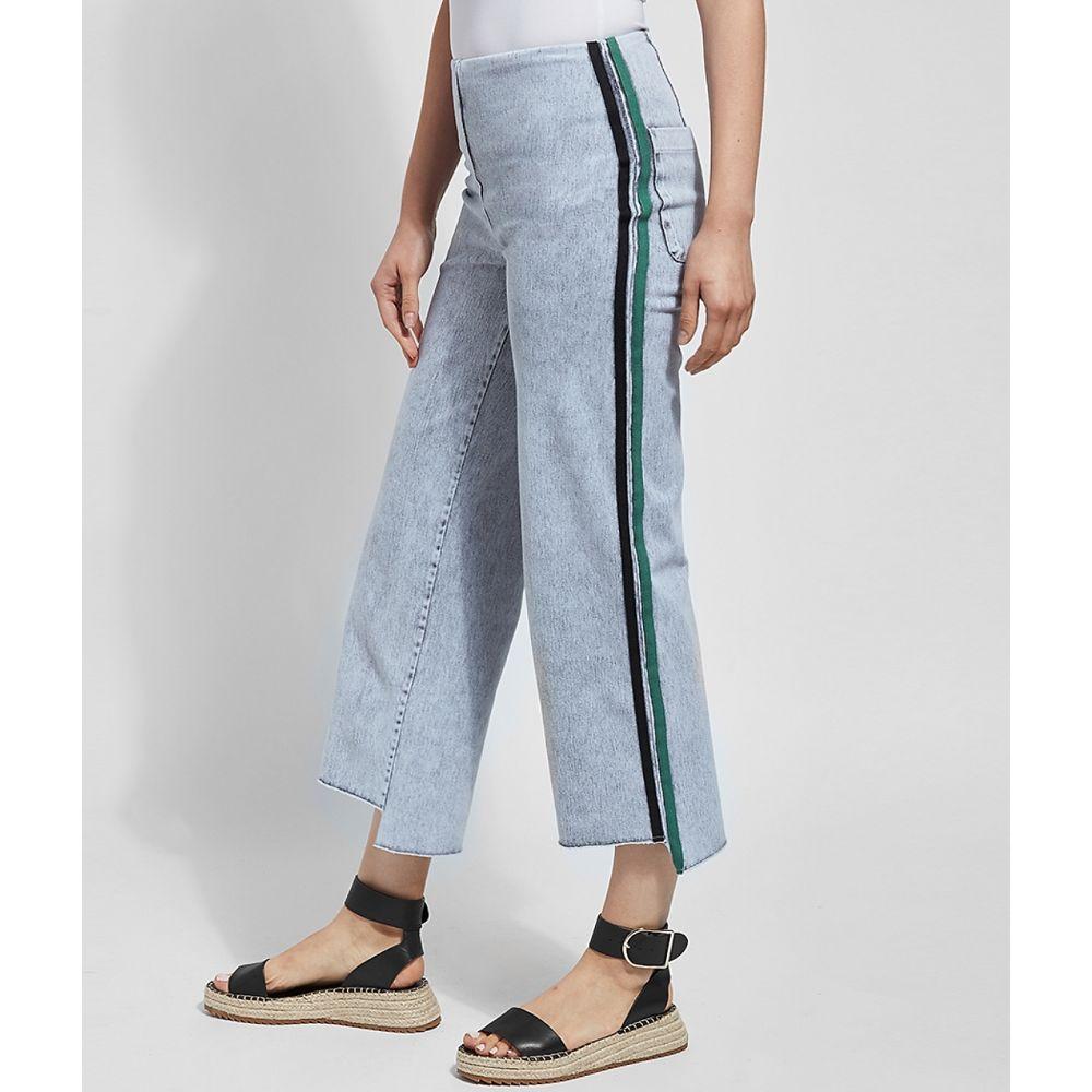 リサ LyssA レディース ジーンズ・デニム ワイドパンツ ボトムス・パンツ【Medium Control Emilia Wide Leg Cropped Denim Pants】Light Grey