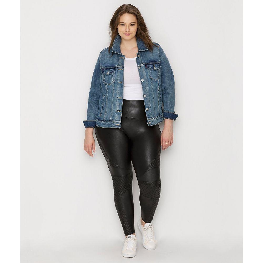 スパンクス SPANX レディース ボトムス・パンツ 大きいサイズ レザーレギンス【Plus Size Quilted Faux Leather Leggings】Very Black