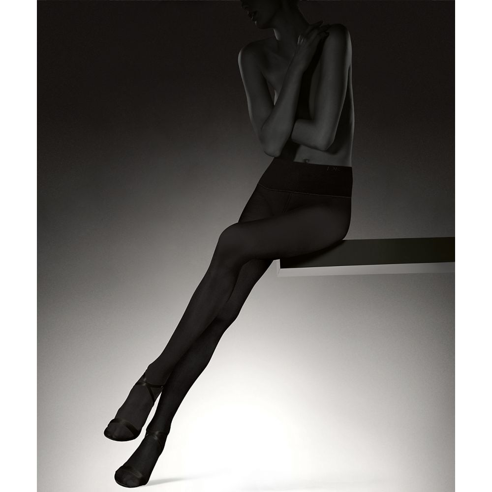 ダナ キャラン ニューヨーク Donna Karan Hosiery レディース タイツ・ストッキング インナー・下着【Luxe Opaque Waist Smoothing Tights】Black