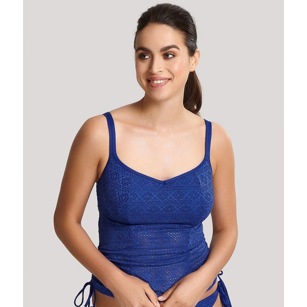 パナシェ Panache レディース トップのみ タンキニ 水着・ビーチウェア【Anya Crochet Underwire Tankini Top】French Blue