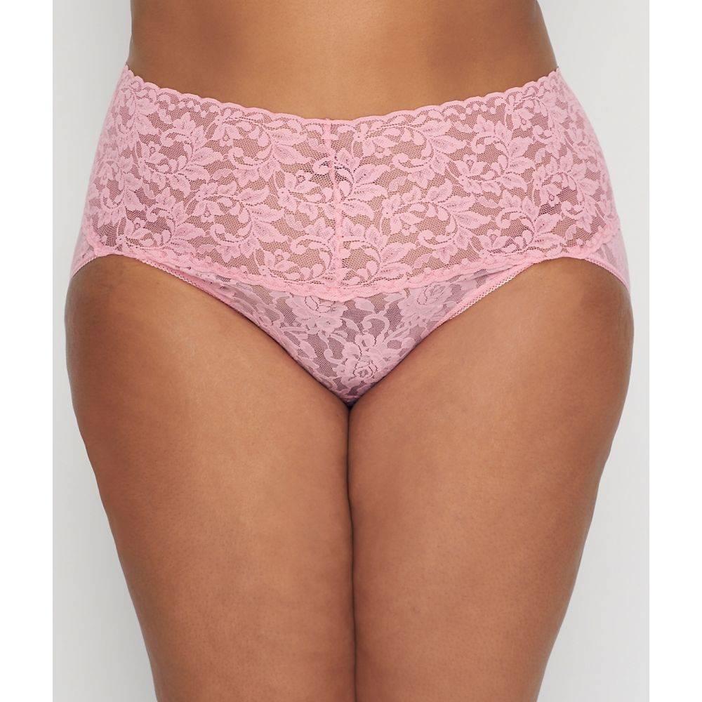 ハンキーパンキー Hanky Panky レディース ショーツのみ 大きいサイズ インナー・下着【Plus Size Signature Lace Retro V-kini】Pink Lady