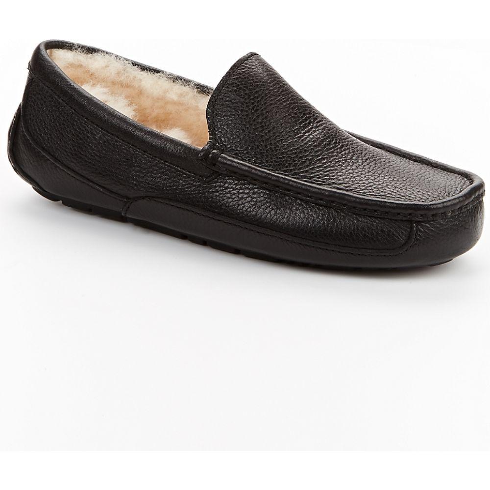 アグ UGG メンズ スリッパ シューズ・靴【Ascot Leather Slippers】Black