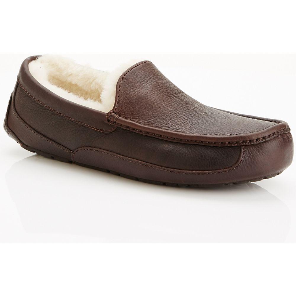 アグ UGG メンズ スリッパ シューズ・靴【Ascot Leather Slippers】China Tea