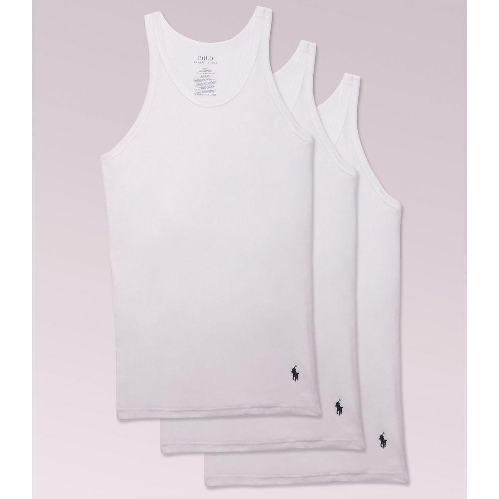 ラルフ ローレン Polo Ralph Lauren メンズ タンクトップ 3点セット トップス【Classic Slim Fit Cotton Tanks 3-Pack】White
