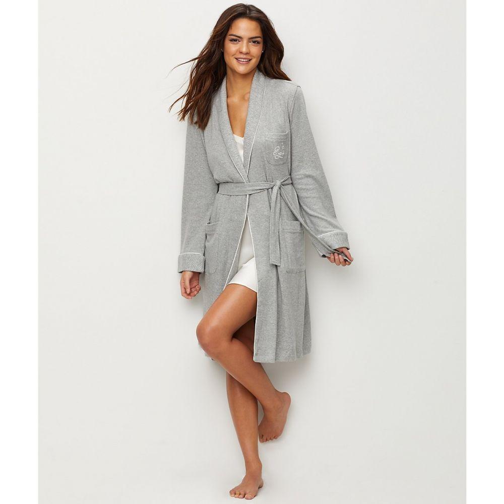 ラルフ ローレン Lauren Ralph Lauren レディース ガウン・バスローブ インナー・下着【hartford lounge shawl collar knit robe】Heather Grey