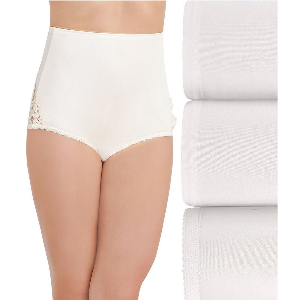 バニティフェア レディース 正規品送料無料 インナー 下着 ショーツのみ Star White サイズ交換無料 3点セット 3-pack Vanity nouveau brief lace 期間限定特価品 Fair
