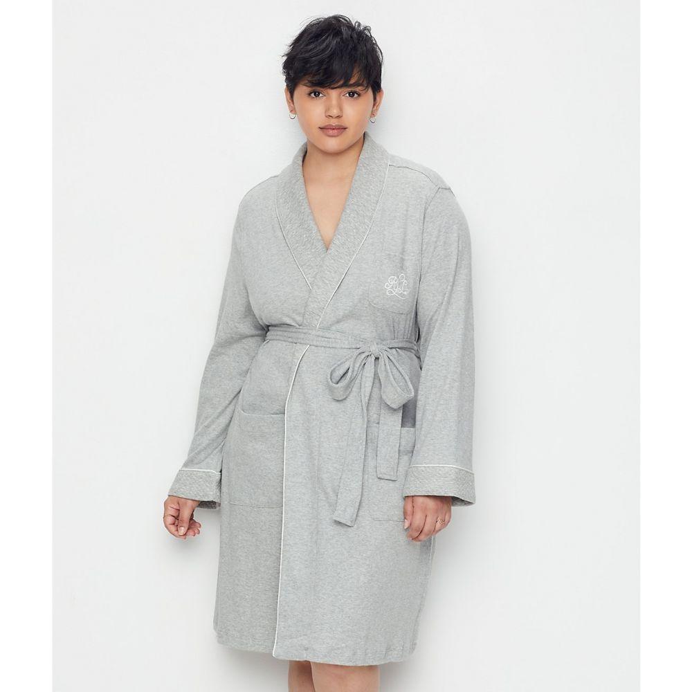 ラルフ ローレン Lauren Ralph Lauren レディース ガウン・バスローブ 大きいサイズ インナー・下着【plus size hartford lounge shawl collar knit robe】Heather Grey