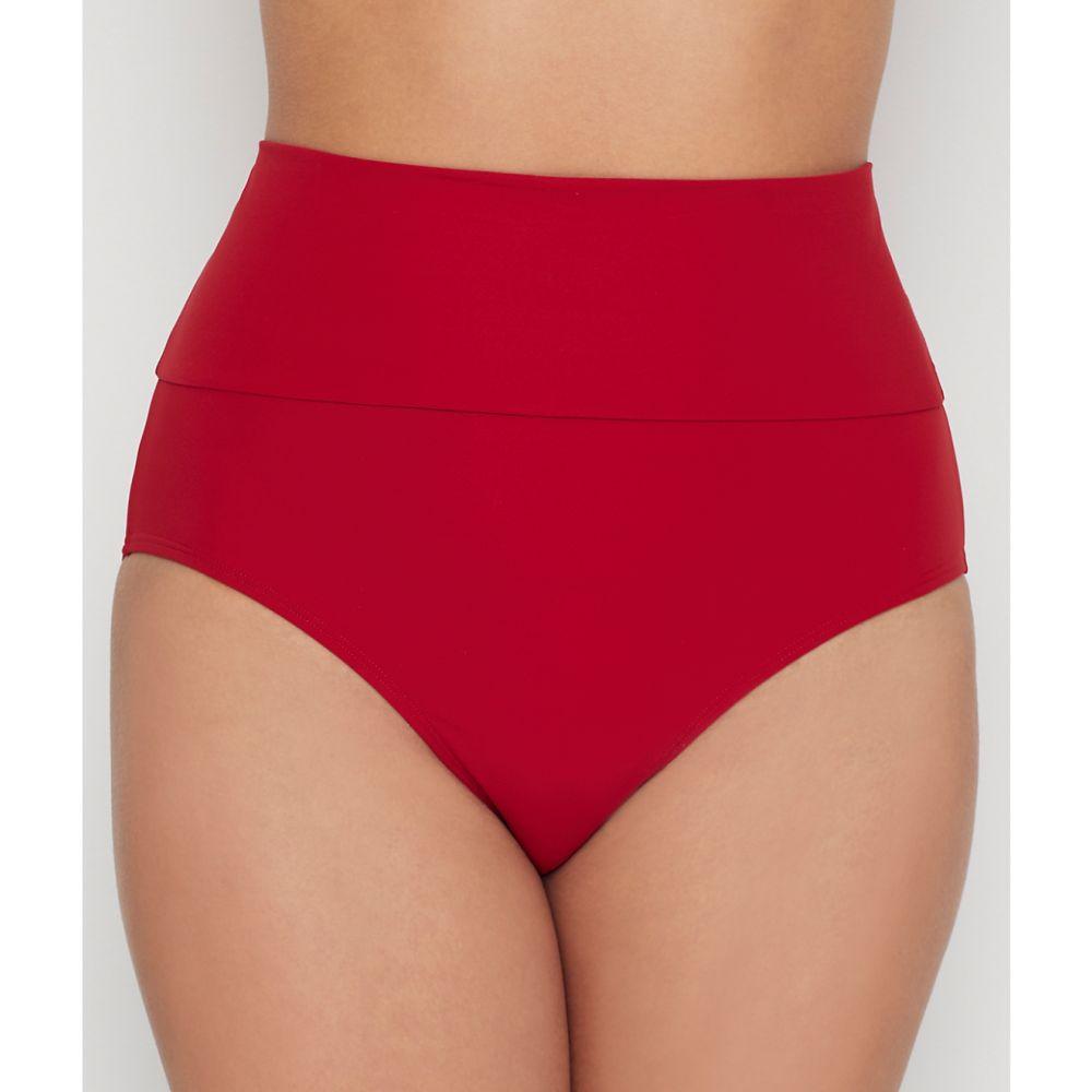 ミスマンダレー Miss Mandalay レディース ボトムのみ 水着・ビーチウェア【icon high-waist fold-over bikini bottom】Ruby Red
