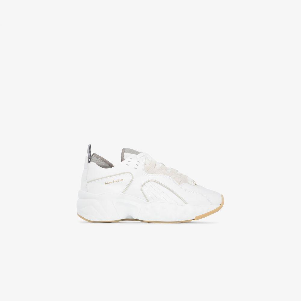 アクネ ストゥディオズ Acne Studios レディース スニーカー シューズ・靴【white manhattan leather sneakers】white