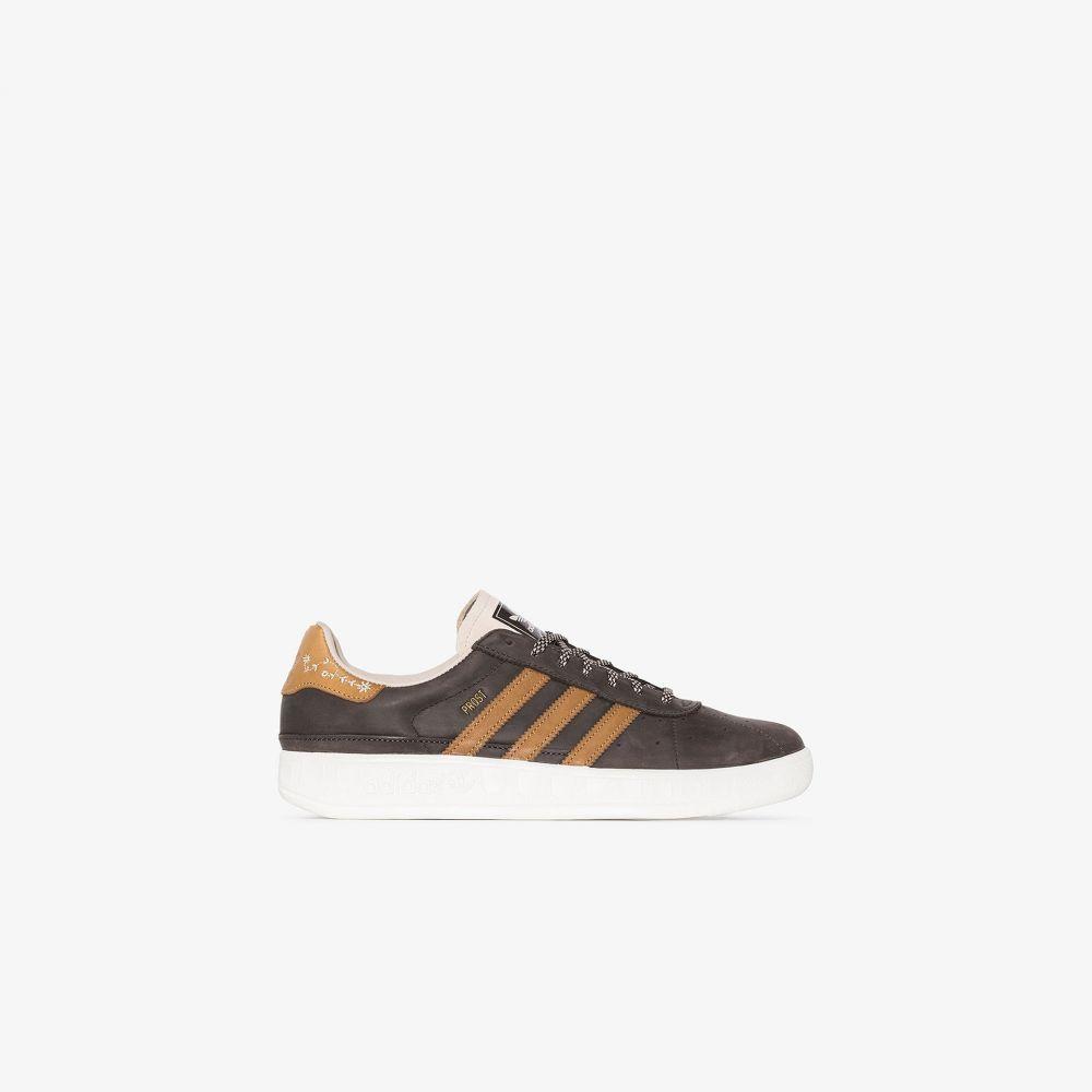 アディダス adidas メンズ スニーカー シューズ・靴【brown Munchen MIG leather sneakers】brown