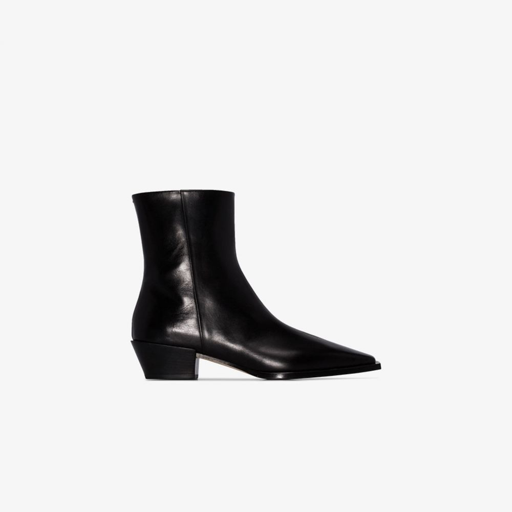 アイデ aeyde レディース ブーツ ショートブーツ シューズ・靴【black Ruby 40 leather ankle boots】black