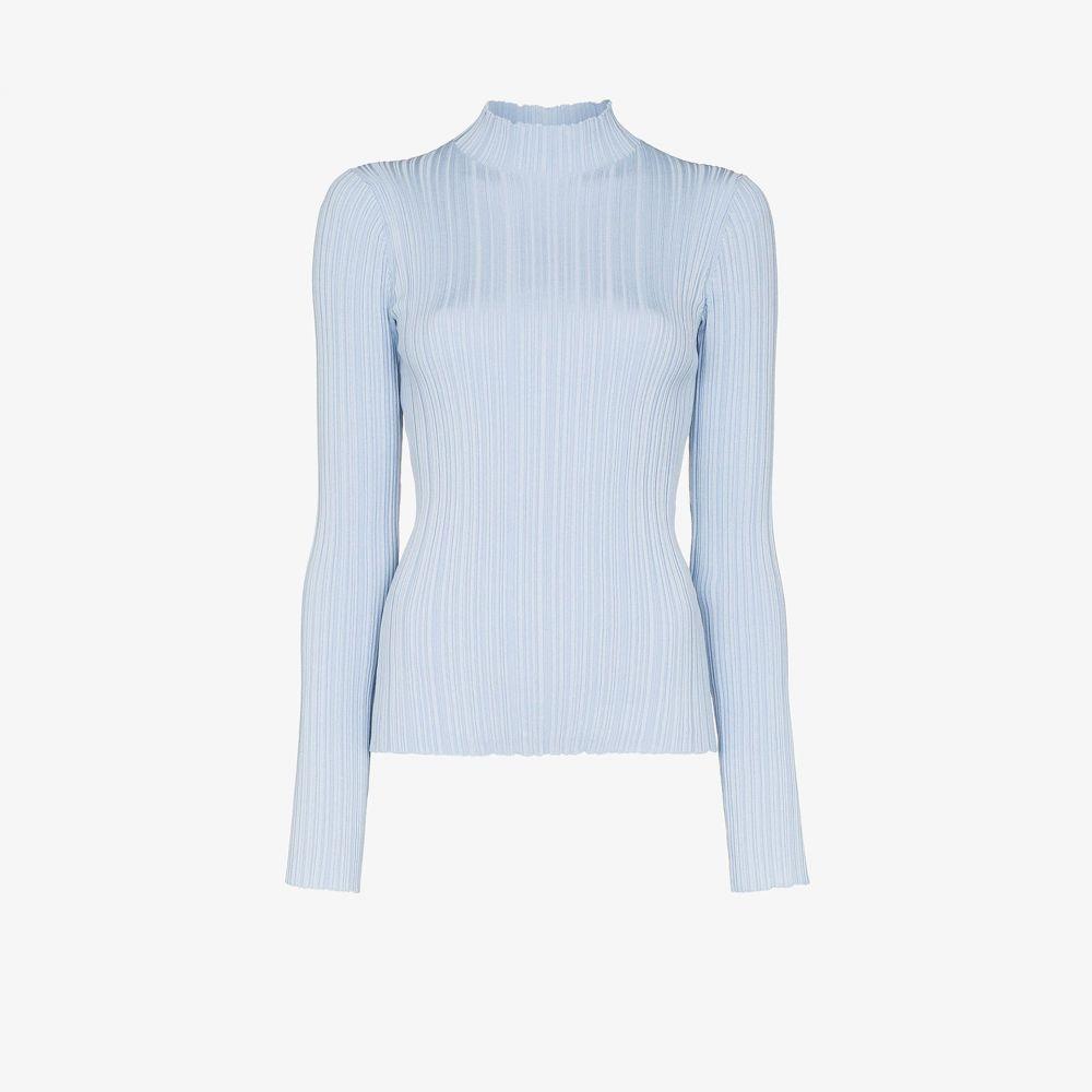 アクネ ストゥディオズ Acne Studios レディース ニット・セーター トップス【mock neck ribbed sweater】blue