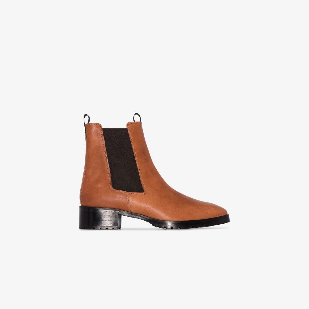 アイデ aeyde レディース ブーツ ショートブーツ シューズ・靴【brown Karlo 40 leather ankle boots】brown
