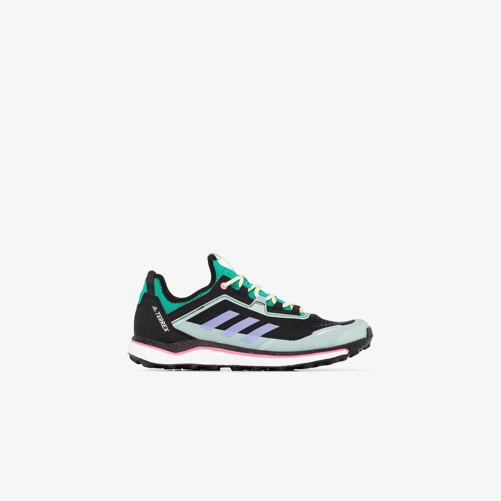アディダス adidas メンズ スニーカー シューズ・靴【black and green Terrex Agravic Flow sneakers】black