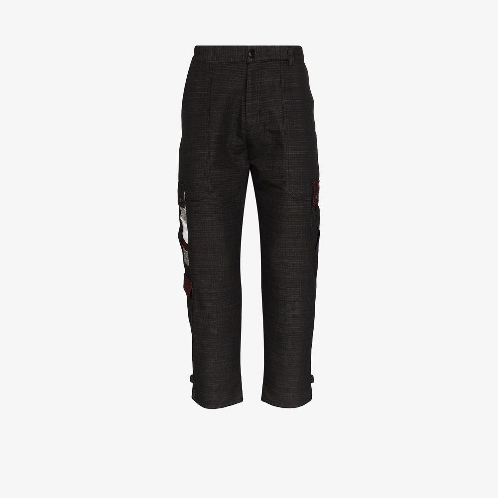 78 スティッチーズ 78 Stitches メンズ ボトムス・パンツ ワイドパンツ【Wide leg combat trousers】black