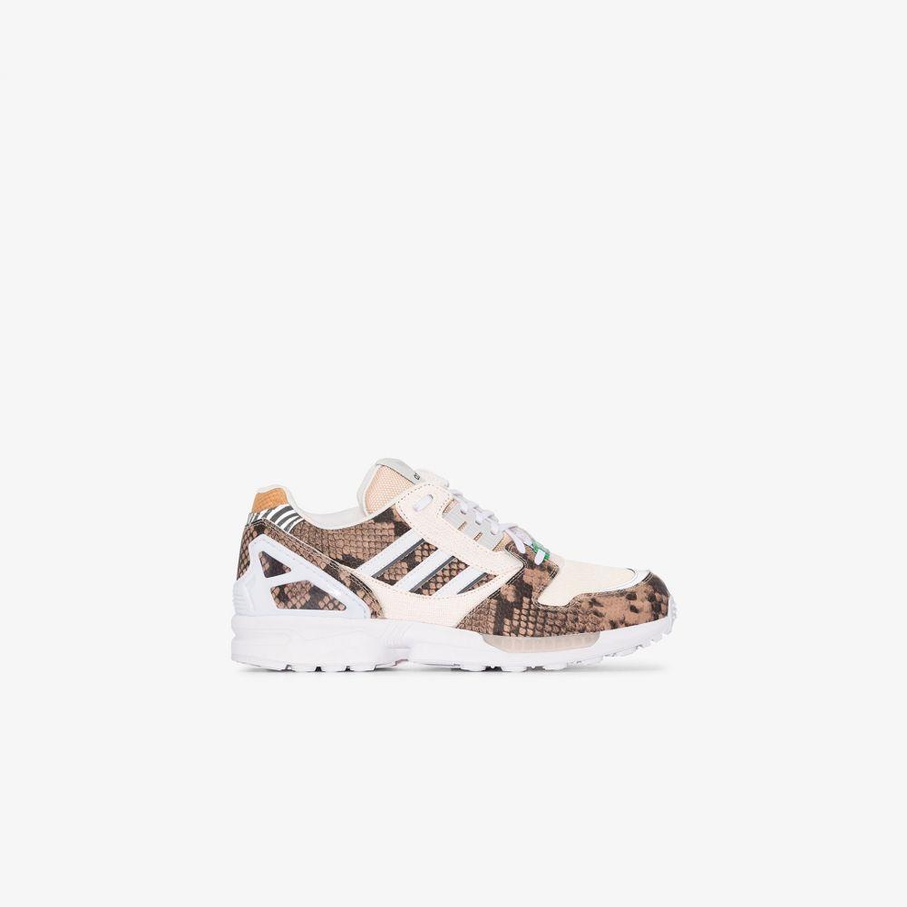 アディダス adidas メンズ スニーカー シューズ・靴【brown ZX 8000 leather sneakers】brown
