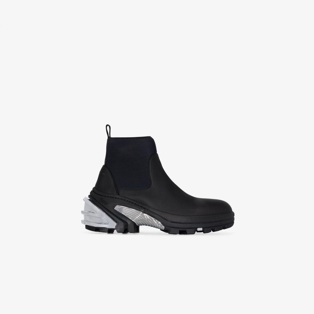 アリクス 1017 ALYX 9SM メンズ ブーツ ショートブーツ チャンキーヒール シューズ・靴【black chunky rubber ankle boots】black